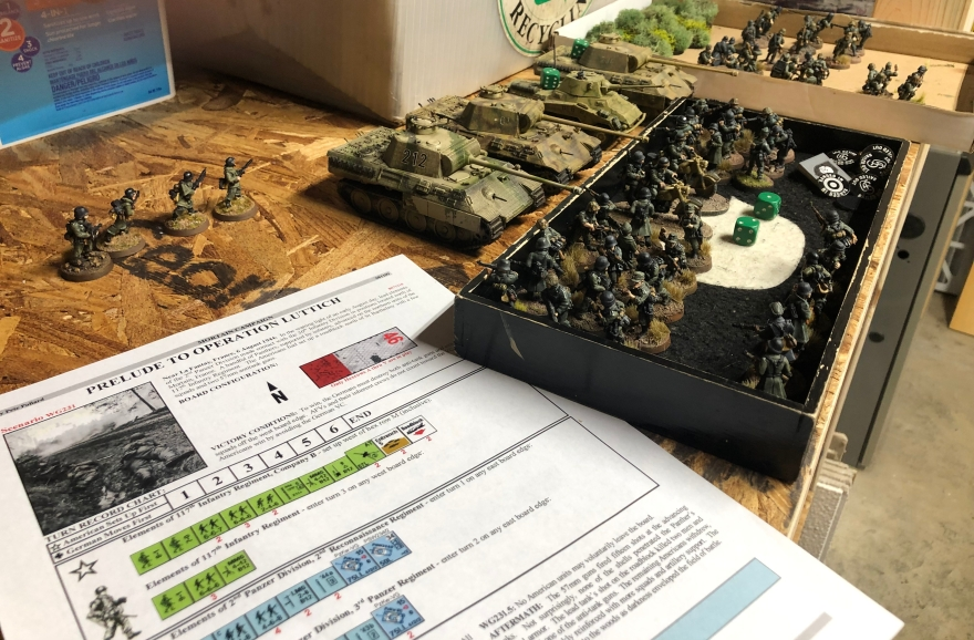 German troops and the scenario stand ready.